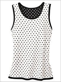 Polka Dot Sweater Tank by Brownstone Studio®