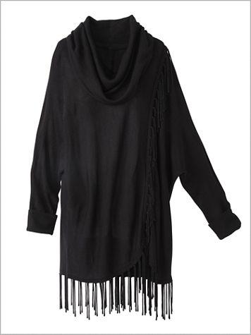 Fringe Cowl Neck Long Sleeve Sweater - Image 2 of 3