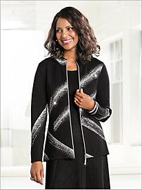 Brushstrokes Sweater Cardigan