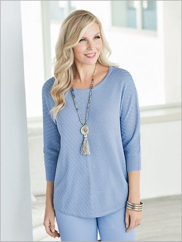 Shimmer Shadow Stripe Sweater - Image 1 of 3