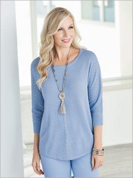 Shimmer Shadow Stripe Sweater