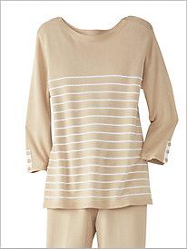 Cotton Stripe Sweater