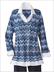 Zig Zag 2 Fer Sweater by Alfred Dunner