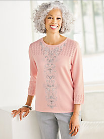Center Embroidered Sweater by Alfred Dunner