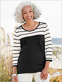 Sophisticated Stripe Sweater by Brownstone Studio®