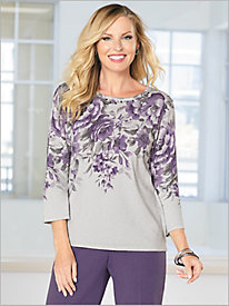 Floral Shimmer Sweater by Alfred Dunner