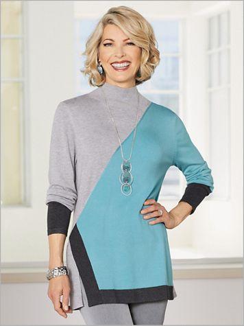 Colorblock Mock Sweater - Image 2 of 2