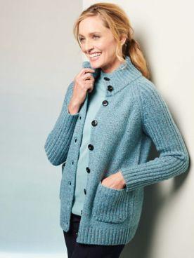 Marled Long Sleeve Sweater Jacket