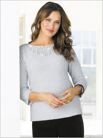 Silver Eyelash Sweater - Image 2 of 2