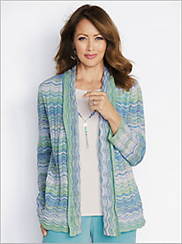 Space Dye 2-Fer Sweater by Alfred Dunner