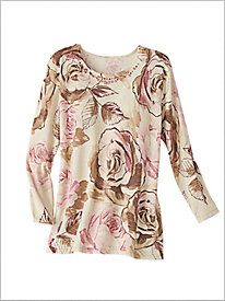 Rose Shimmer Sweater by Alfred Dunner