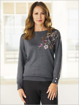 Modern Corsage Pullover