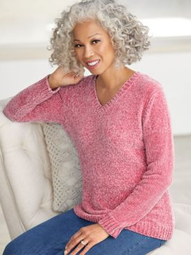 Chenille V-Neck Sweater