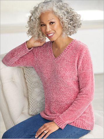 Chenille V-Neck Sweater - Image 2 of 3
