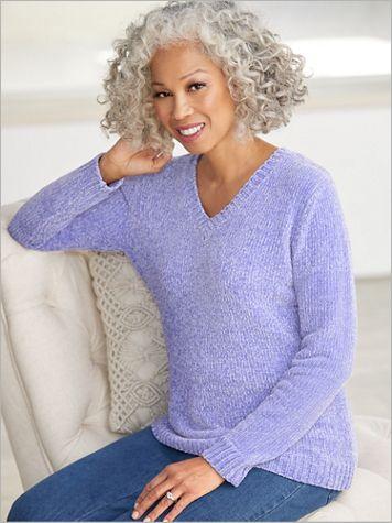 Chenille V-Neck Sweater - Image 0 of 1
