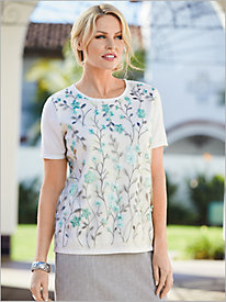 Versailles Floral Trellis Sweater by Alfred Dunner
