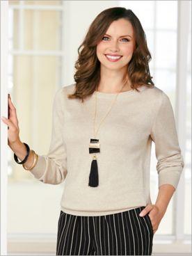 Shimmer Long Sleeve Sweater