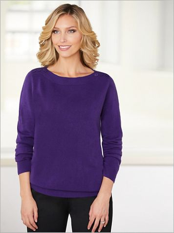 Soft Spun® Boatneck Sweater - Image 1 of 6