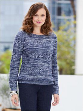 Marvelous Marled Sweater