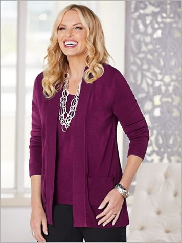 Soft Spun® Acrylic Cardigan - Image 1 of 5