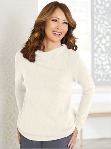 Soft Spun® Acrylic Envelope Neck Sweater - Image 1 of 7