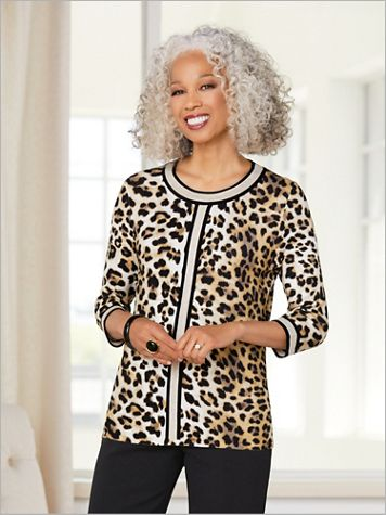 Silhouette Leopard Sweater - Image 3 of 3