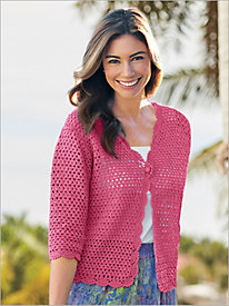 Crochet Cardigan by Norm Thompson for Draper's & Damon's