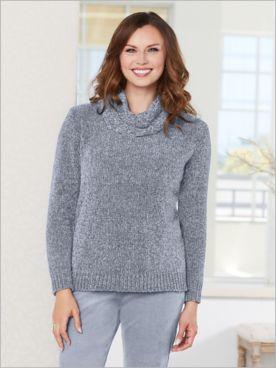 Calypso Cowl Chenille Sweater