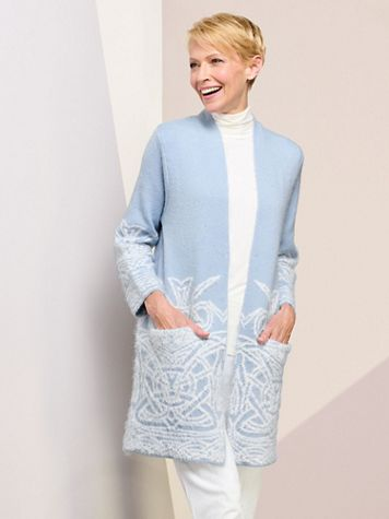 Winter Dream Open Front Sweater by Picadilly - Image 1 of 6