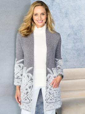 Winter Dream Open Front Sweater by Picadilly