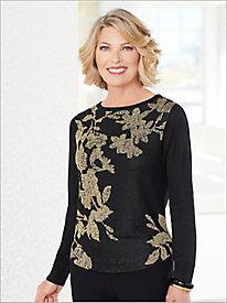 Floral Shimmer Sweater