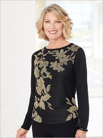 Floral Shimmer Sweater - Image 2 of 2
