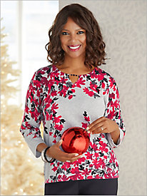 Falling Flowers Sweater by Alfred Dunner