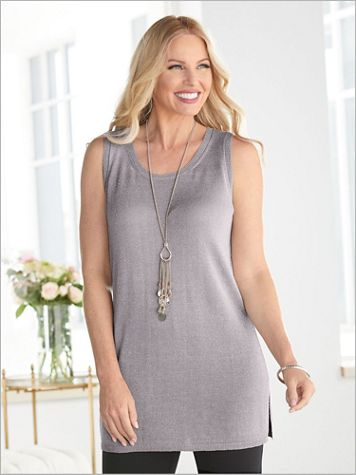 Shimmer Sweater Tank - Image 1 of 3
