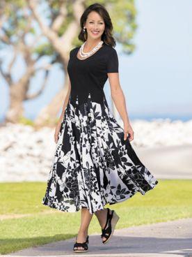 Graphic Floral Dress