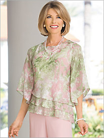Floral Triple Tier Top by Alex Evenings
