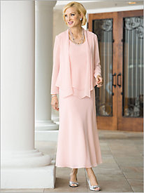 Radiant Georgette Jacket Dress by Alex Evenings