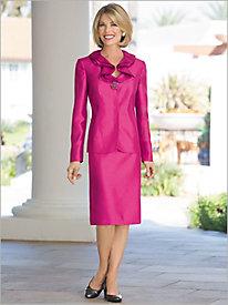 Elegant Shantung Suit