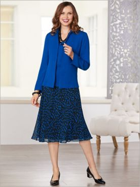 Dot Dressing Three Piece Skirt Set