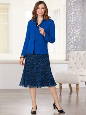Dot Dressing Three Piece Skirt Set
