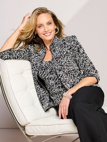Alex Evenings Mandarin Vine Special Occasion Knit Twin Set