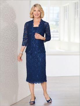 New Venetian Lace Jacket Dress by Alex Evenings