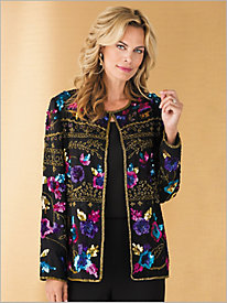 Sequined Multi Beaded Jacket