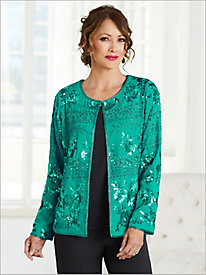 Sequined Chiffon Jacket