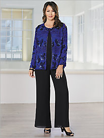 Sequined Chiffon Jacket & Georgette Separates