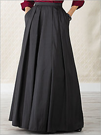 Long Full Taffeta Skirt by Alex Evenings
