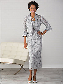 Lace Long Jacket Dress