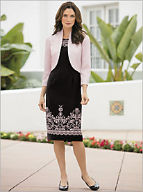 Floral Border Jacket Dress
