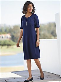 2 Pocket Look-Of-Linen Dress