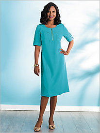2 Pocket Look-Of-Linen Dress